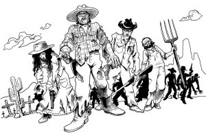 Old West Zombies by artistjerrybennett