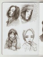Asian's sketch (girls) by AlinaWhat