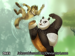 Po and wolf fight KFP by jalenrobinson11