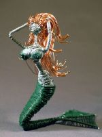 Green Mermaid in Wire by reynaldomolinawire