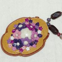 polymer clay pendant by trinibreed