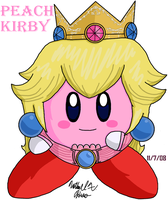 Kirby - Princess Peach by BlazingGanondorf
