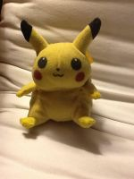 Stuffed Pikachu toy by HispanicOrca
