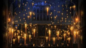Pottermore Background: Great Hall Floating Candles by xxtayce