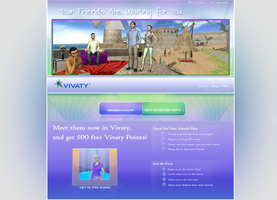 vivaty invites web  redesign by d-gREg