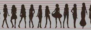 - Height Lineup - by LittleMissWiseass