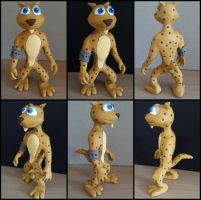 Hunter the Cheetah Sculpture by frozendragonflames