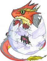 Hatching Baby Dragon by BlackStarDesigns