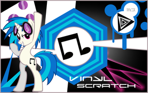 Vinyl Scratch Wallpaper by MusicJump
