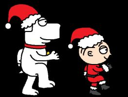 Stewie and Brian March for Xmas Ani by Mighty355