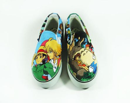 Custom Shoes Studio Ghibli by Annatarhouse