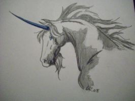 Paint unicorn speed drawing by BloodStainedSilk