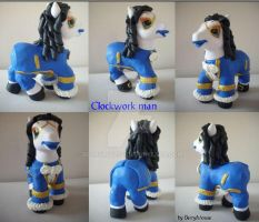 My little Pony Custom Dr Who Clockworkmen by BerryMouse