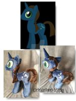 My little pony Plushie commission Nightowl by CINNAMON-STITCH