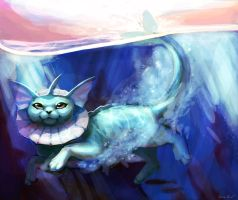 Vaporeon used Dive! by OrcaOwl
