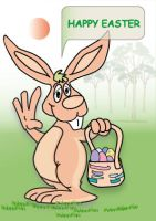 Easter bunny postcard by arite-stocks
