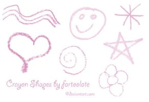 Crayon Shapes Brushes by fartoolate