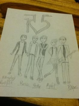 R5 band drawing. :D by ronirene
