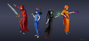 Homestuck - The Main Four by SophieJaguarkia