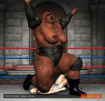 Voodoo Raw - female fighter - 8ft 9in - 03 by theamazonclub