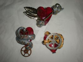Tentacle Heart Charms 2 by Oriana-X-Myst