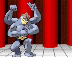 Machamp in the Dojo by ScourgeoftheStream
