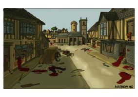 Medieval Zombie Apocalypse - Town by mhofever