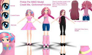 Pinkie Pie MMD Models by GirlAnimePrincess