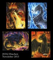Dragons - ATC by Merinid-DE
