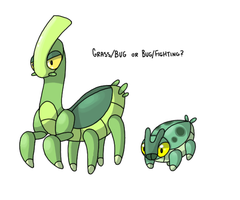 Unnamed Mantis fakemon. by P00CHYENA