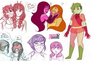 Inspired Sketchdump by Geminine-nyan