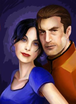 Carth and Revan by HarrySorne