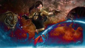 Tomb Raider Corrupted Sci-FI by TheMooPaintPro