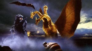 Godzilla, Rodan, and Mothra vs King Ghidorah by ultimategodzilla