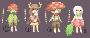 Adopts::forest themed CLOSED by Pandastrophic
