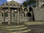 3D Background: Temple Complex by Sheona-Stock