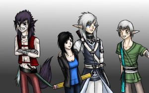 Me and my OC's by xRaggsokkenx