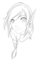 Chipper Elf Lineart by TheCatlady