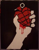 Green Day: American Idiot duct tape album cover by YesterdazeGone
