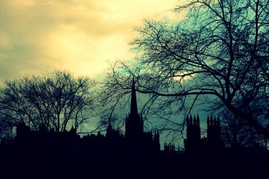 The Silhouette Of Edinburgh II by La-Civetta