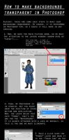 How to make Backgrounds transparent in Photoshop by Niban-Destikim