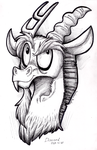 Pen Portrait - Discord by InuHoshi-to-DarkPen