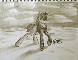 Littlepip - prelude by PaintingJo