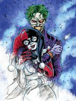 Harley and Joker - madly romance by Gengiskahn
