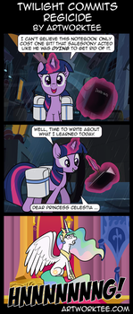 Comic: Twilight Sparkle Commits Regicide by artwork-tee