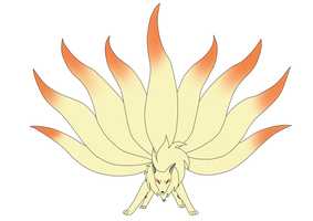 Ninetales The Fire Fox by xAloneWolfx