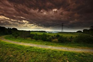 Stormy lake 2 by MisterDedication
