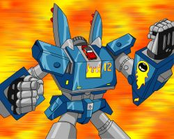MEGAS XLR - Action pose by wilkowwc