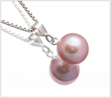 Pink Freshwater Pearl Pendant by Sarahorsomeone