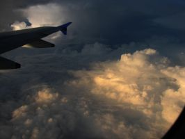 Cloudscape from plane by Shadowfax2009